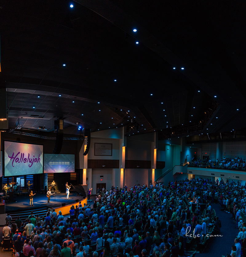Chroma-Q Inspire LED House Lights Lighting Hill Country Bible Church