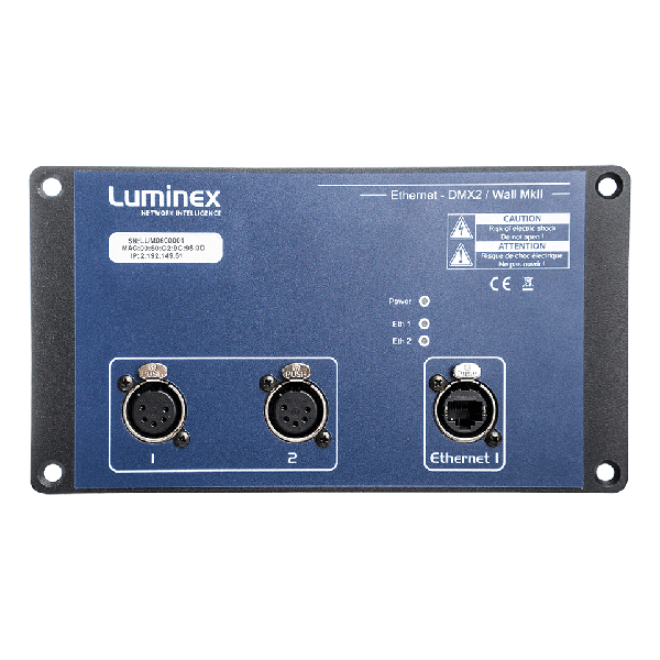 Luminex DMX2 Wall Ethernet to DMX Converter