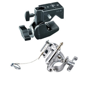 Manfrotto Hook Clamps & Couplers - Superclamp, Silver Barrell clamp