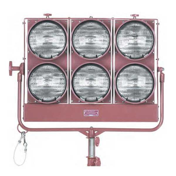 Mole-Richardson 5781 6,000 Watt Molequartz Six-Light Molepar