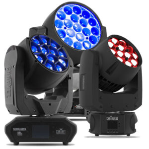 Chauvet Moving Wash Lights - Intimidator 450 Maverick MK2 Rogue R2