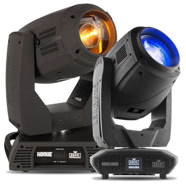 Chauvet Moving Hybrid Lights - Maverick Mk1 Rogue RH1