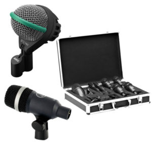 AKG Instrument Microphones - AKD112 MKII, Drum Set Session 1,7 Piece Microphone Pack, AKG D40 Dynamic Instrument Microphone