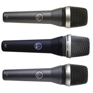 AKG Live Vocal Microphones - D5, D7, C5