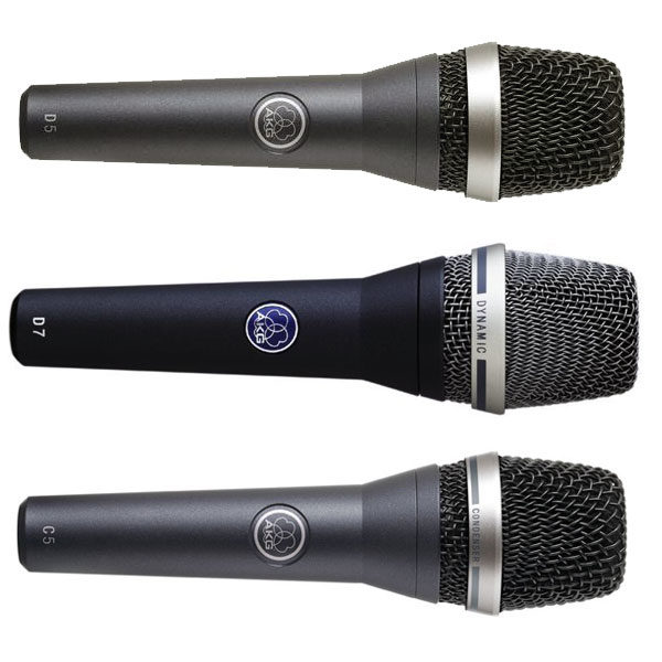 AKG Live Vocal Microphones - D5, D7, C5