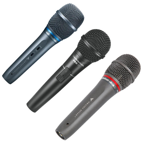 Audio-Technica Live Vocal Microphones - AE3300, PRO41, AE6100