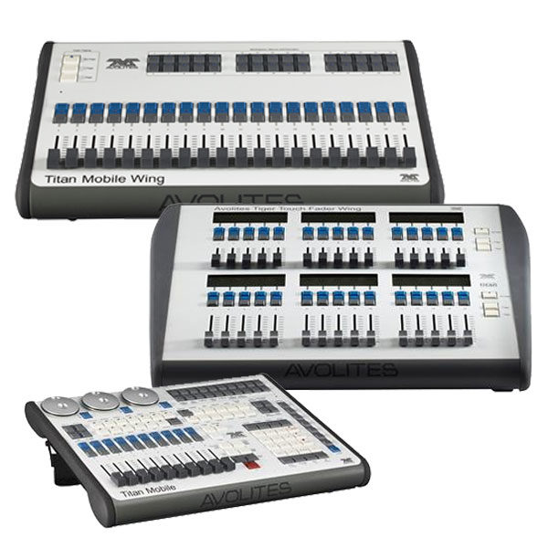 Avolites Lighting Control Wings - Titan Mobile Titan Mobile Wing Tiger Touch Fader Wing