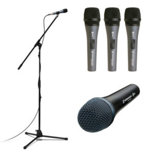 Sennheiser Live Vocal Microphones - E835-S Microphone 3 pack, E935 Cardioid Vocal Microphone, ePack 835 Kit with e835 Cardiod Microphone