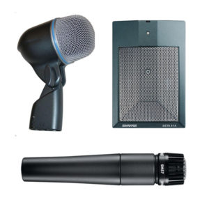 Shure Instrument Microphones - BETA 52A, BETA 91A, SM57