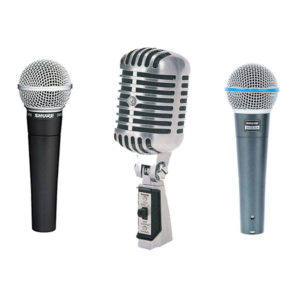 Shure Live Vocal Microphones - SM58, BETA58A, 55SH-2