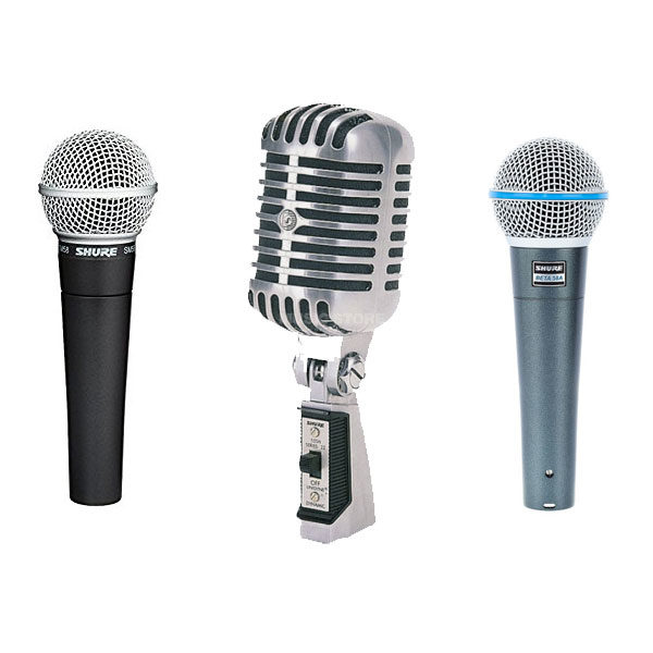 Shure Live Vocal Microphones - SM58, BETA58A, 55SH-2