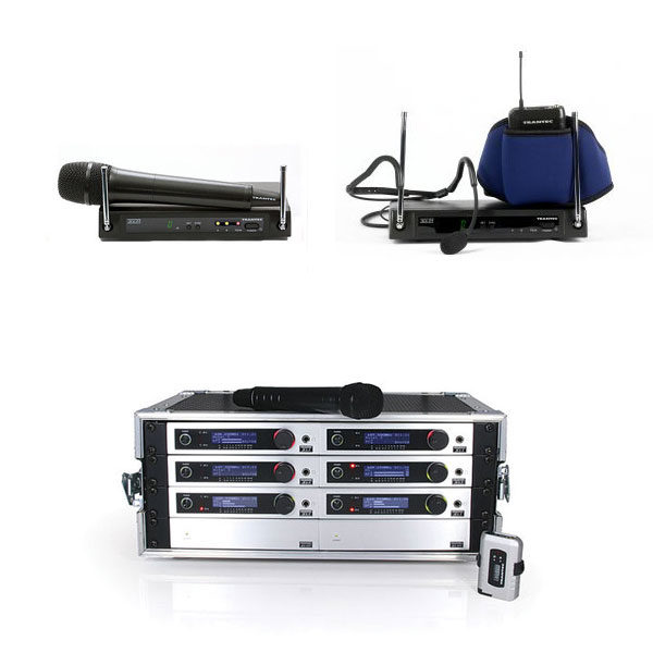Trantec Wireless Systems - Trantec S4.04-HD-EB-GD5, Trantec 6 x S5.5 Systems With ADU, Power Supply Unit And Flightcase, Trantec S4.04-W-EB-GD5 Aerobic Headset System With Belt
