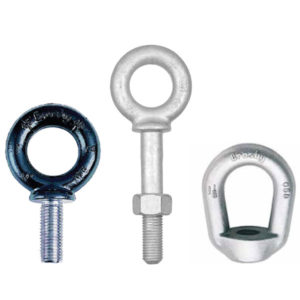 Crosby M279 Metric Shoulder Type Machinery Eye Bolts, G277 Shoulder Nut Eye Bolts and G400 Eye Nuts