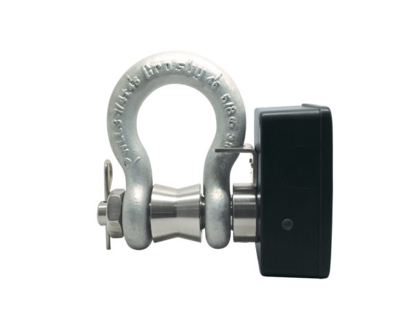BroadWeigh Blue 3.25 tonne load shackle with Bluetooth side view