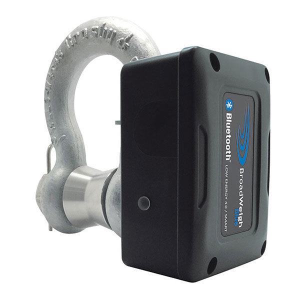 BroadWeigh Blue 3.25 tonne load shackle with Bluetooth angle shot